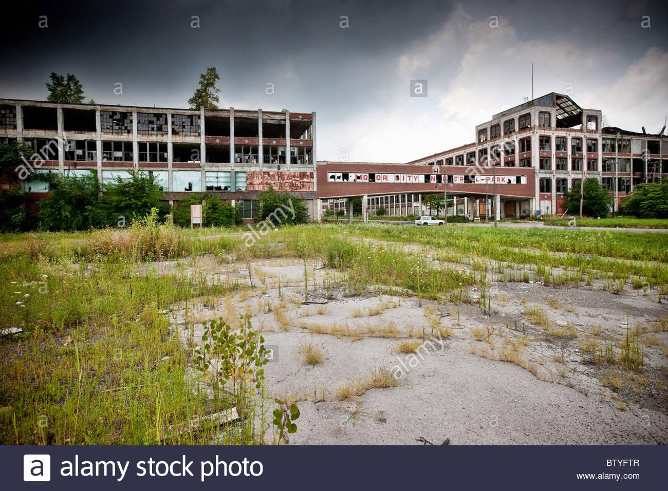 Detroit, Michigan, USA. Derelict buildings in Detroit. - Stock Image