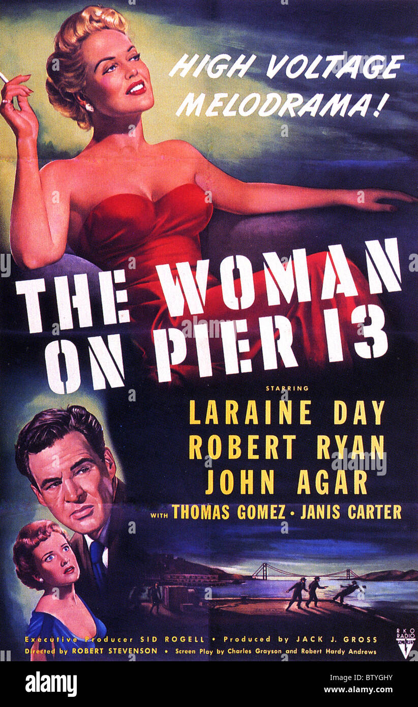 THE WOMAN ON PIER 13  Poster for 1949 RKO film - Stock Image