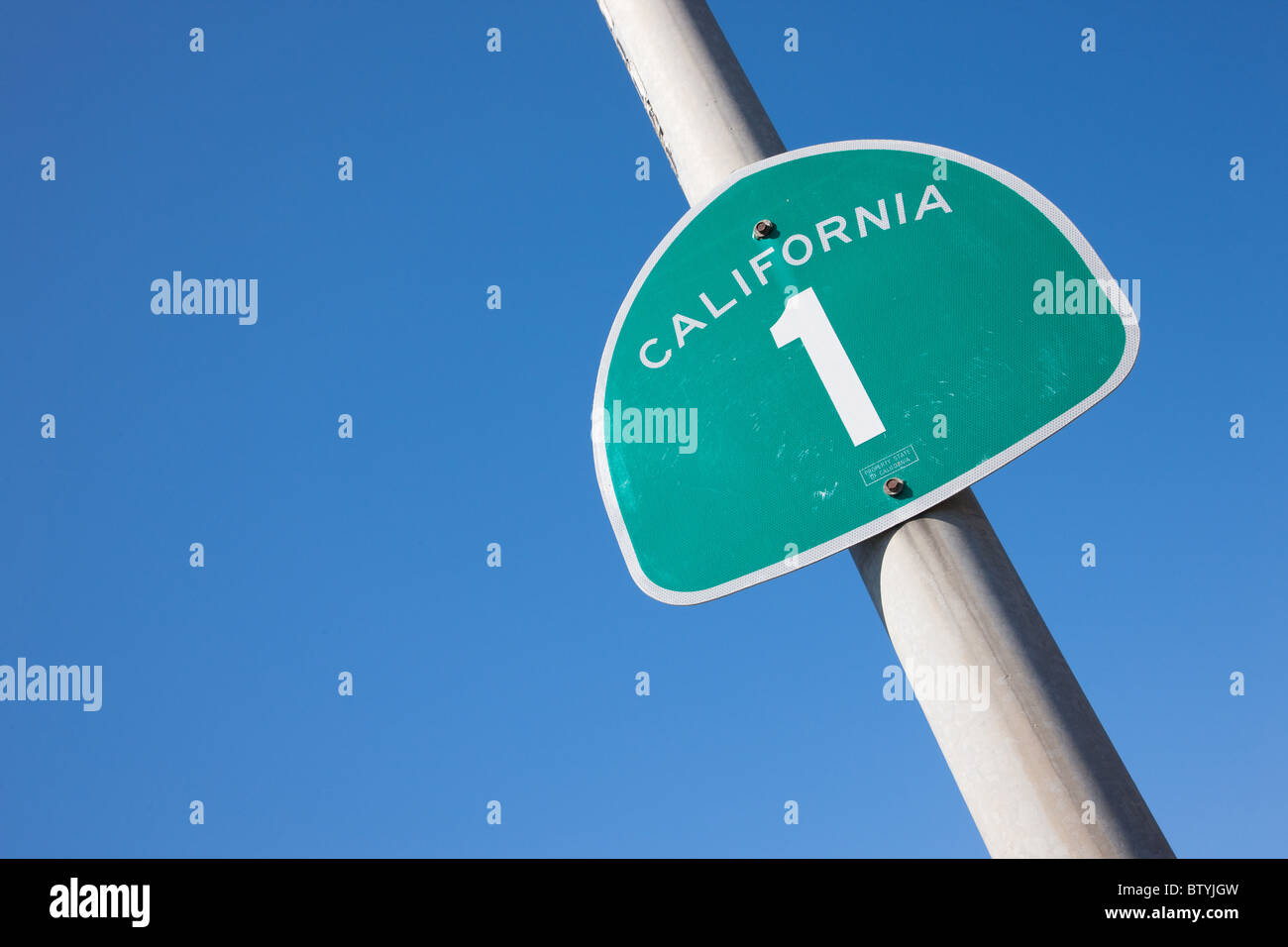 on Highway one, pacific coast highway, California, - Stock Image