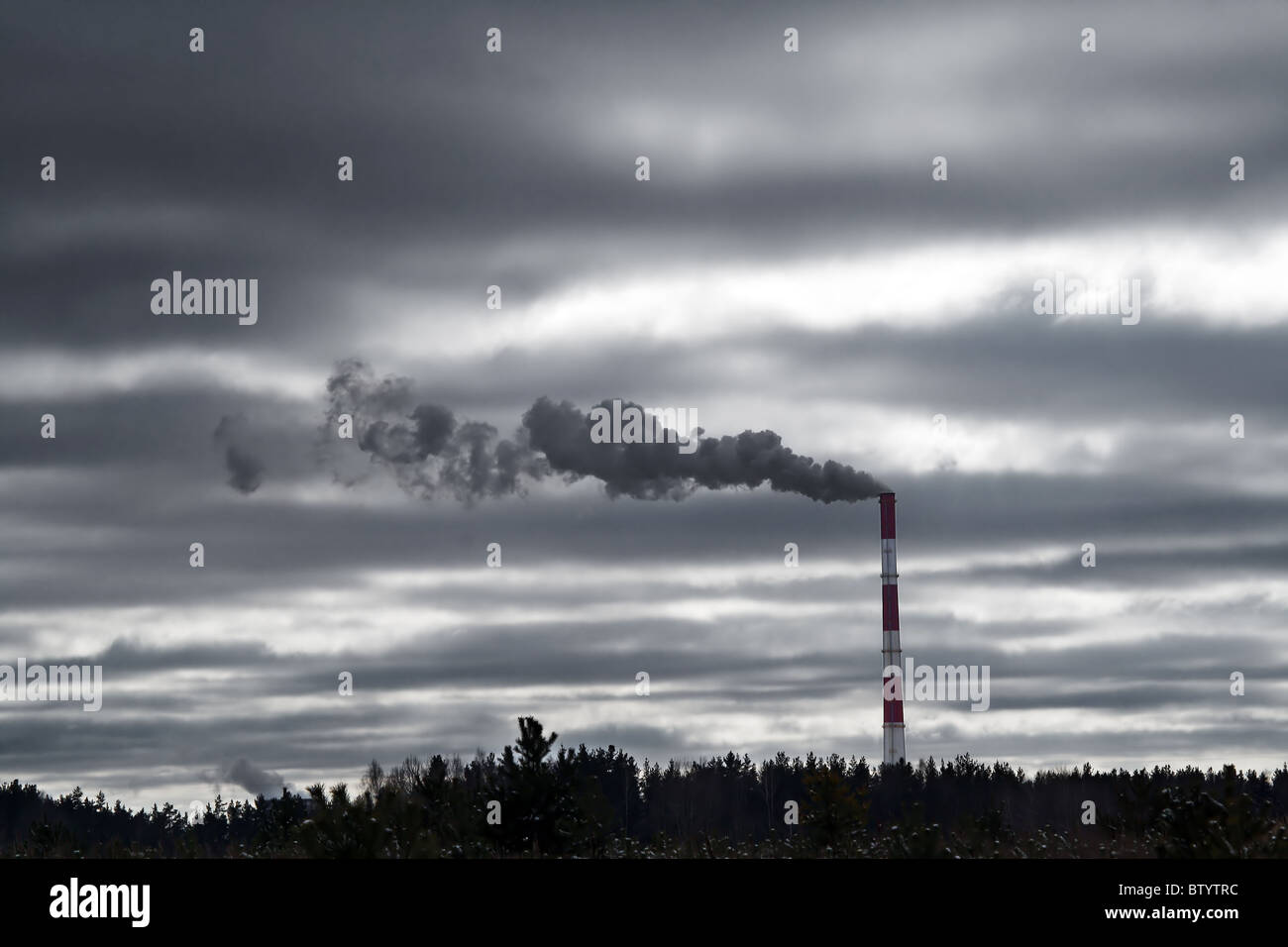 Industrial smog - Stock Image