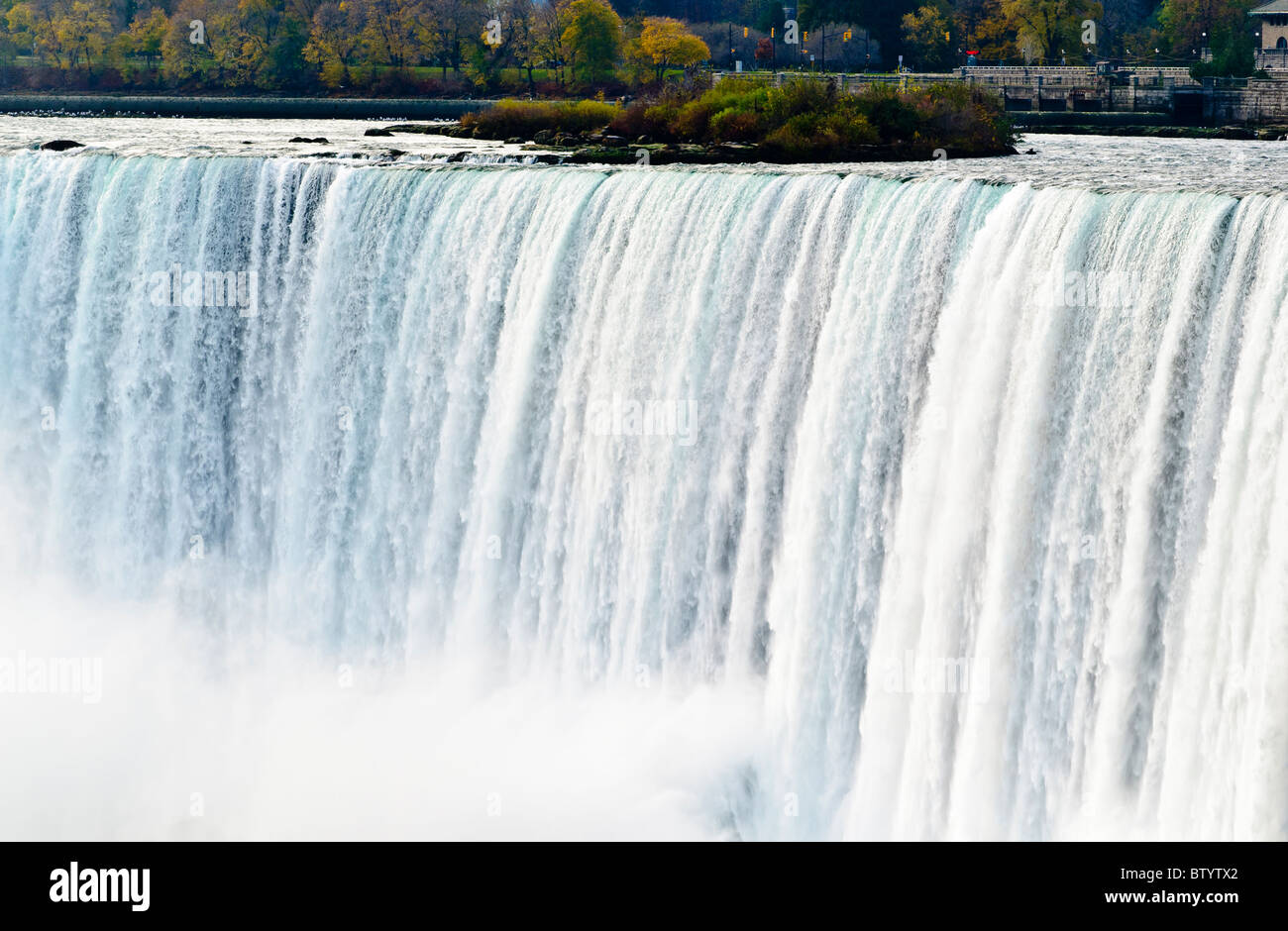 Thundering waters of Niagara Falls also known as Horseshoe Falls,Ontario,Canada - Stock Image