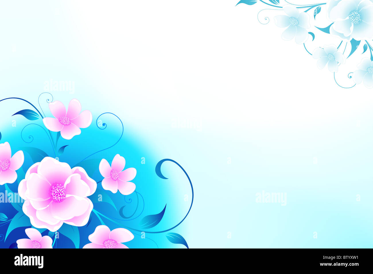 Abstract Modern Floral Background For Your Design