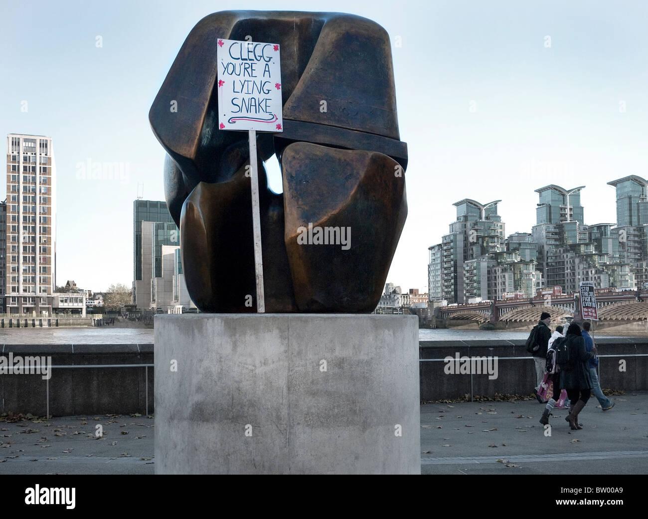 Education fees demo London - Stock Image
