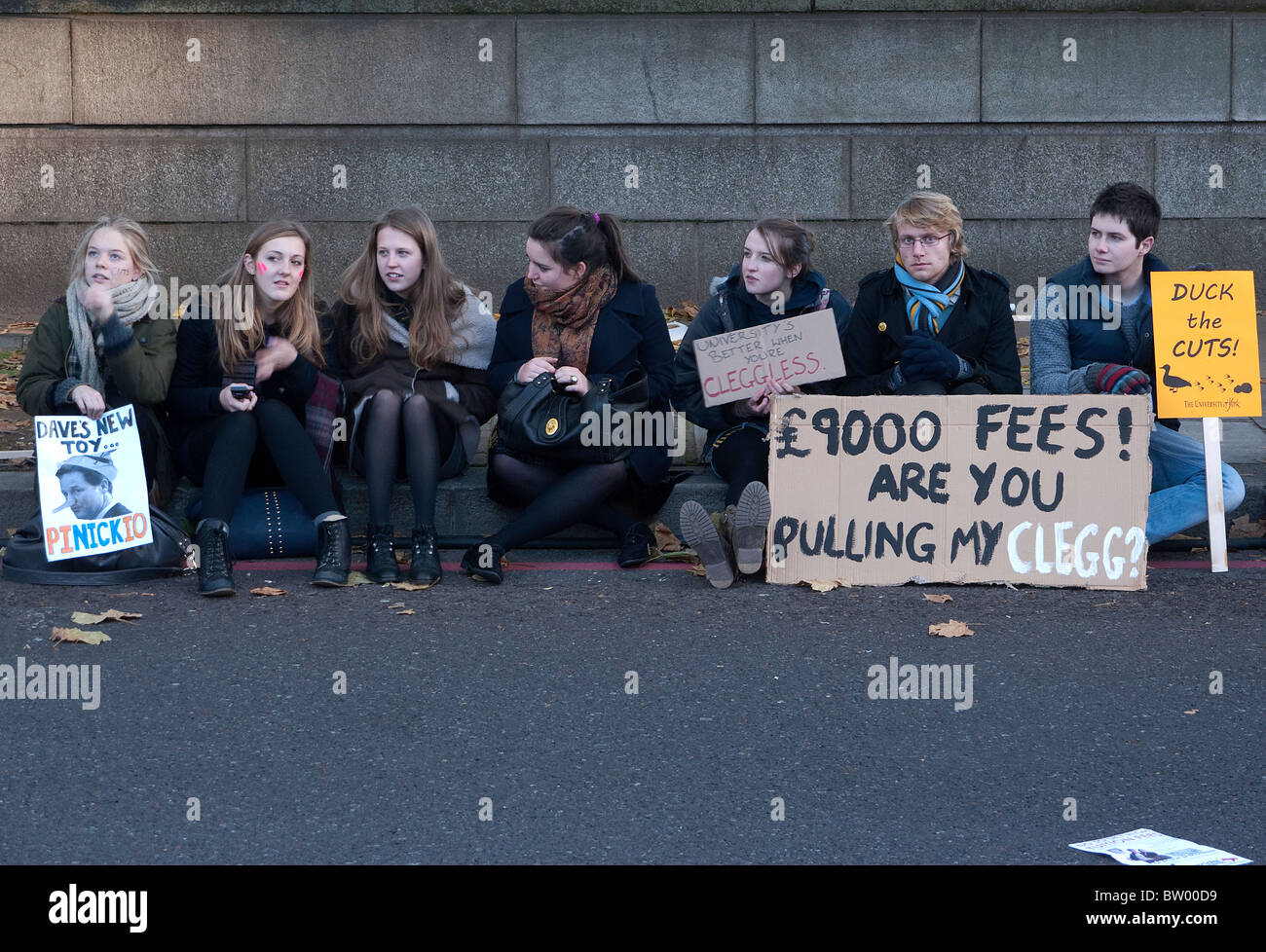 Education fees demo London - Stock Image