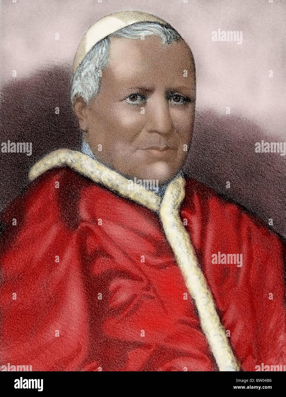Pius IX (1792-1878). Italian pope. Stock Photo