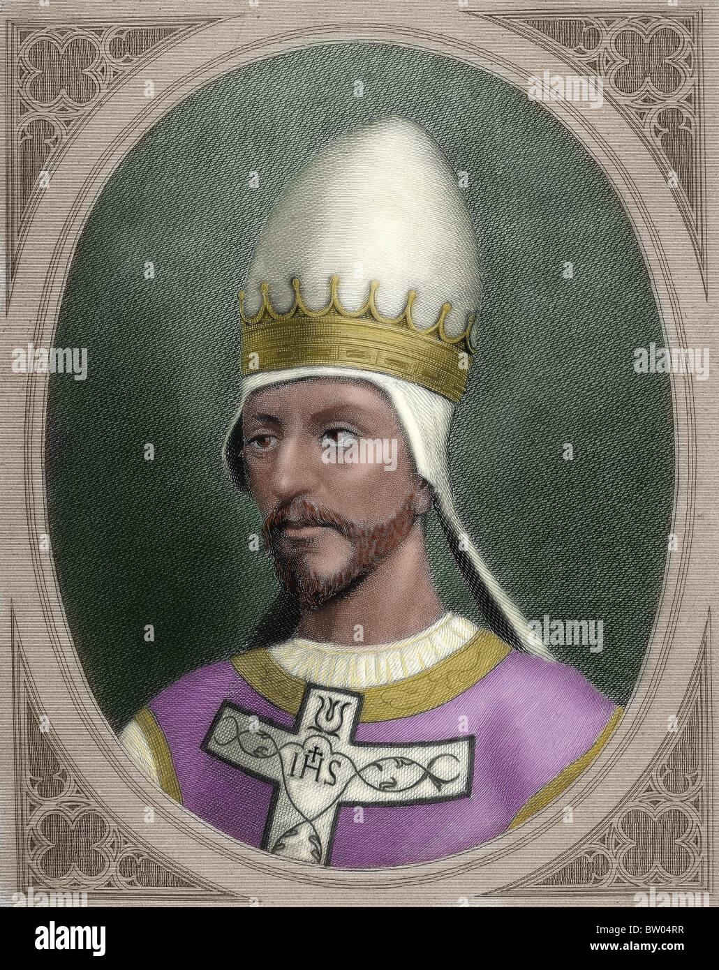 Pope Saint Gregory VII (c. 1015/1028-1085), born Hildebrand of Sovana. Pope from April 22, 1073, until his death. - Stock Image