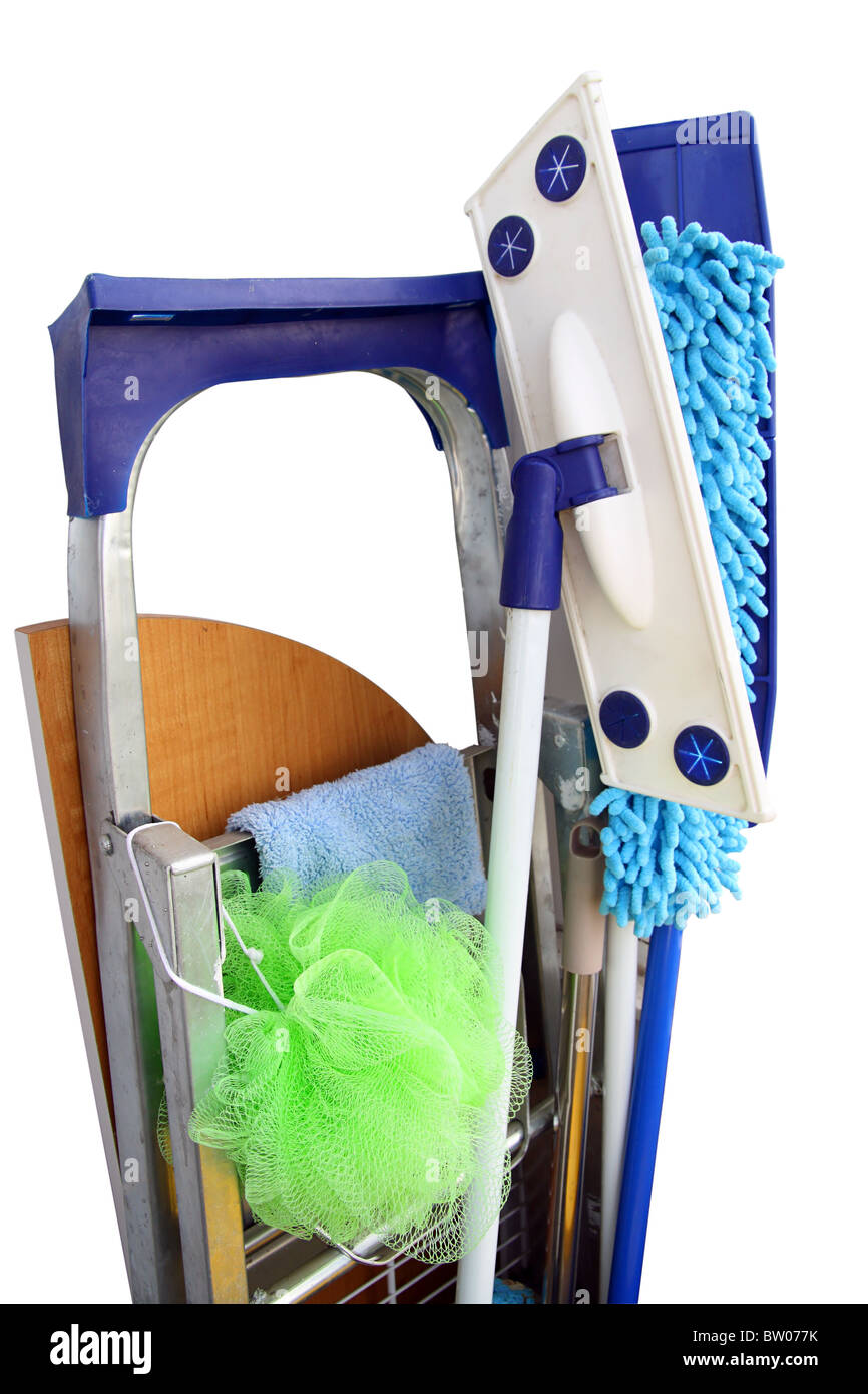 Tools for rooms cleaning - Stock Image