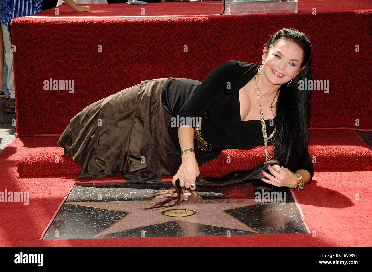 Star on the Hollywood Walk of Fame for Crystal Gayle - Stock Image