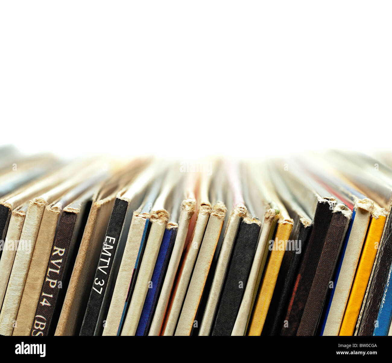 Record Collection, Close Up. - Stock Image