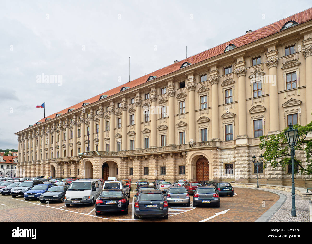 Facade of the Cernin Palace, Prague, Foreign Office (Ministry of Foreign Affairs) of Czech Republic - Stock Image