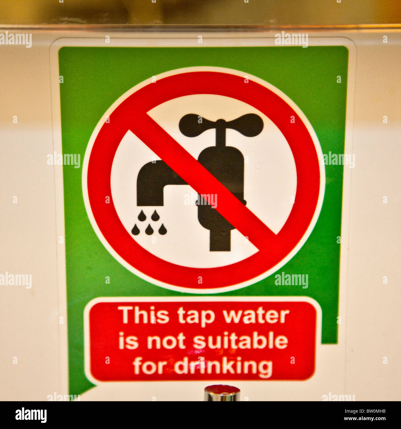 Dar es Salaam, Tanzania. Tap Water not Drinkable, in a First-Class Hotel Room. - Stock Image