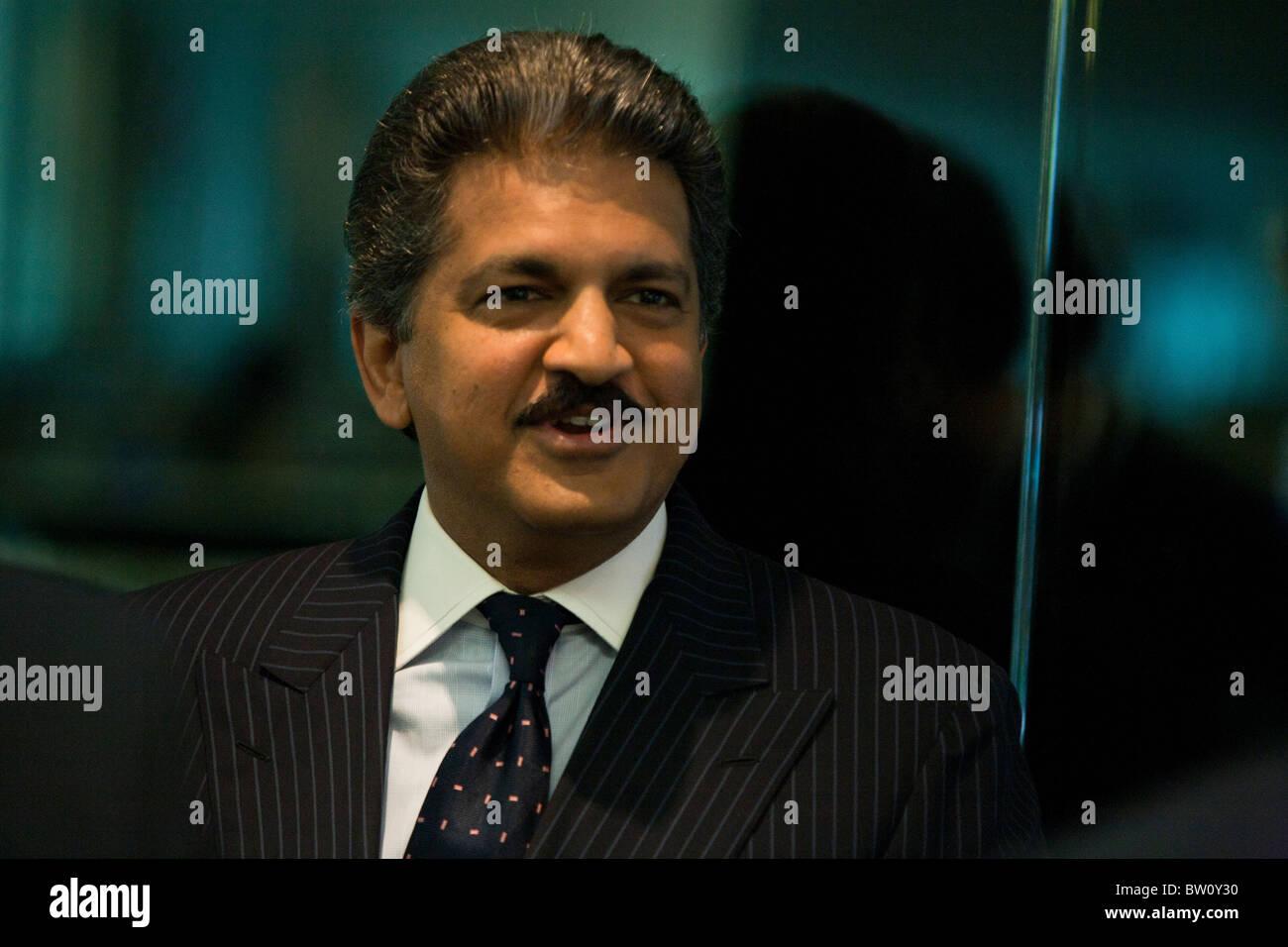 Anand Mahindra, vice chairman and managing director of Mahindra & Mahindra Ltd., in Singapore - Stock Image