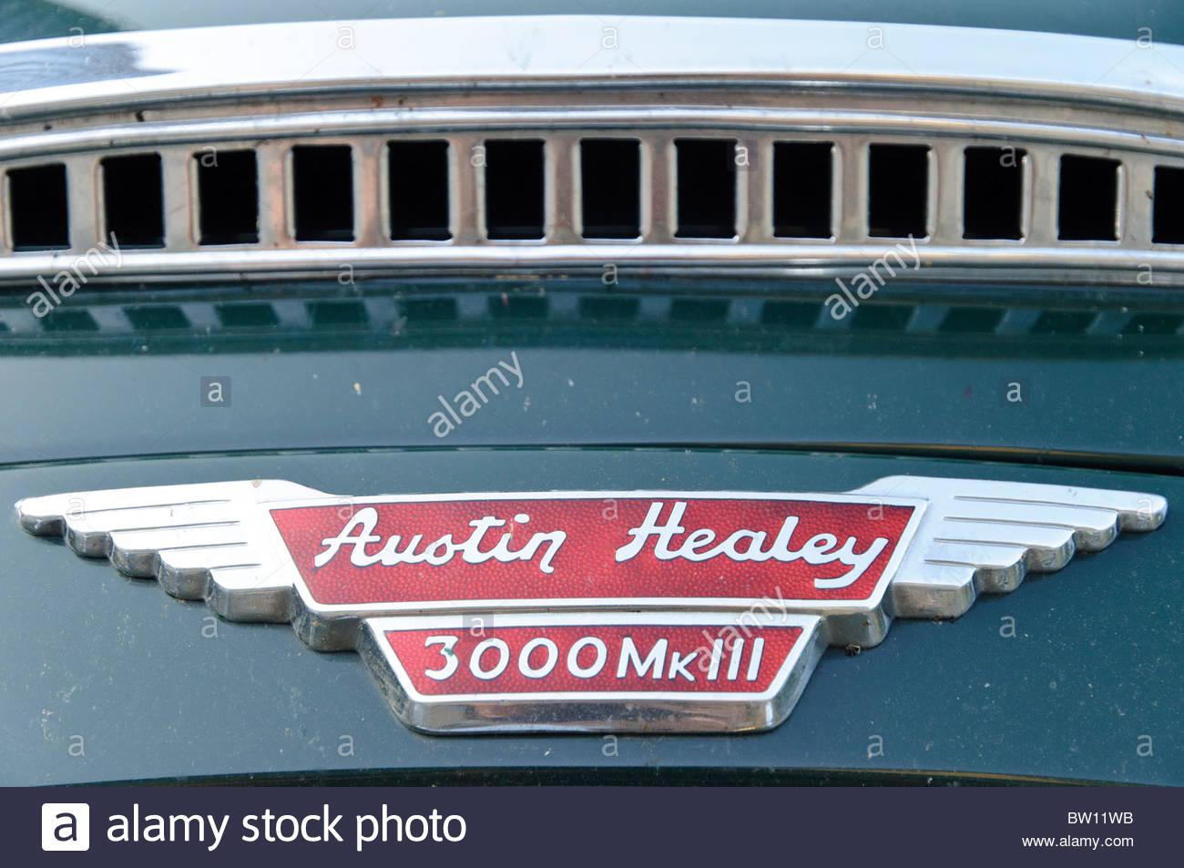 Austin Healey 3000 Mk III, Jena, Thuringia, Germany, Europe - Stock Image