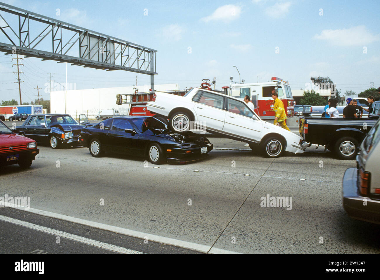 auto accident crash collision freeway California rear-end