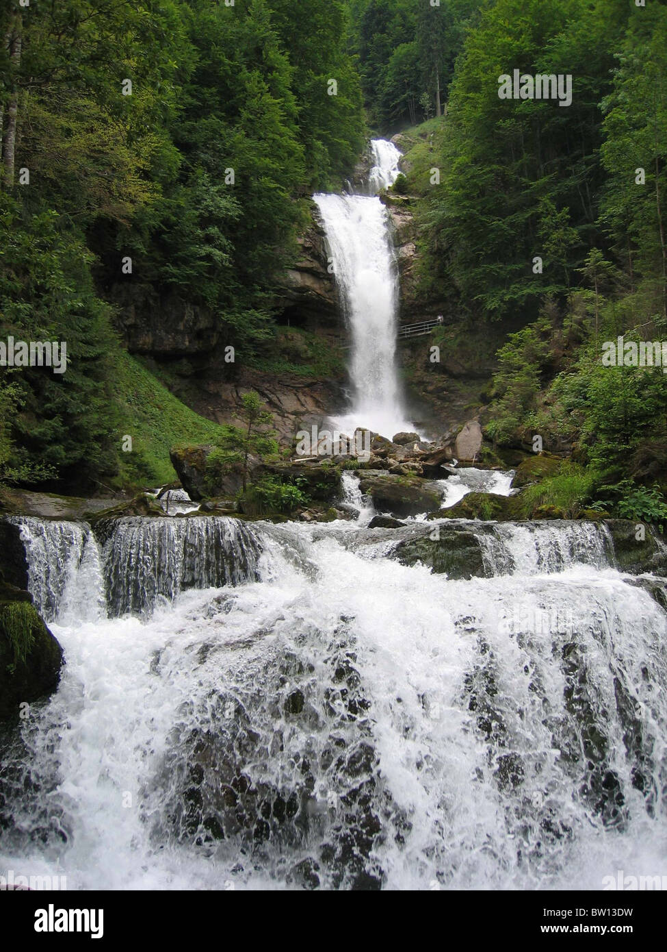 Swiss falls: Giesbach falls switzerland Stock Photo