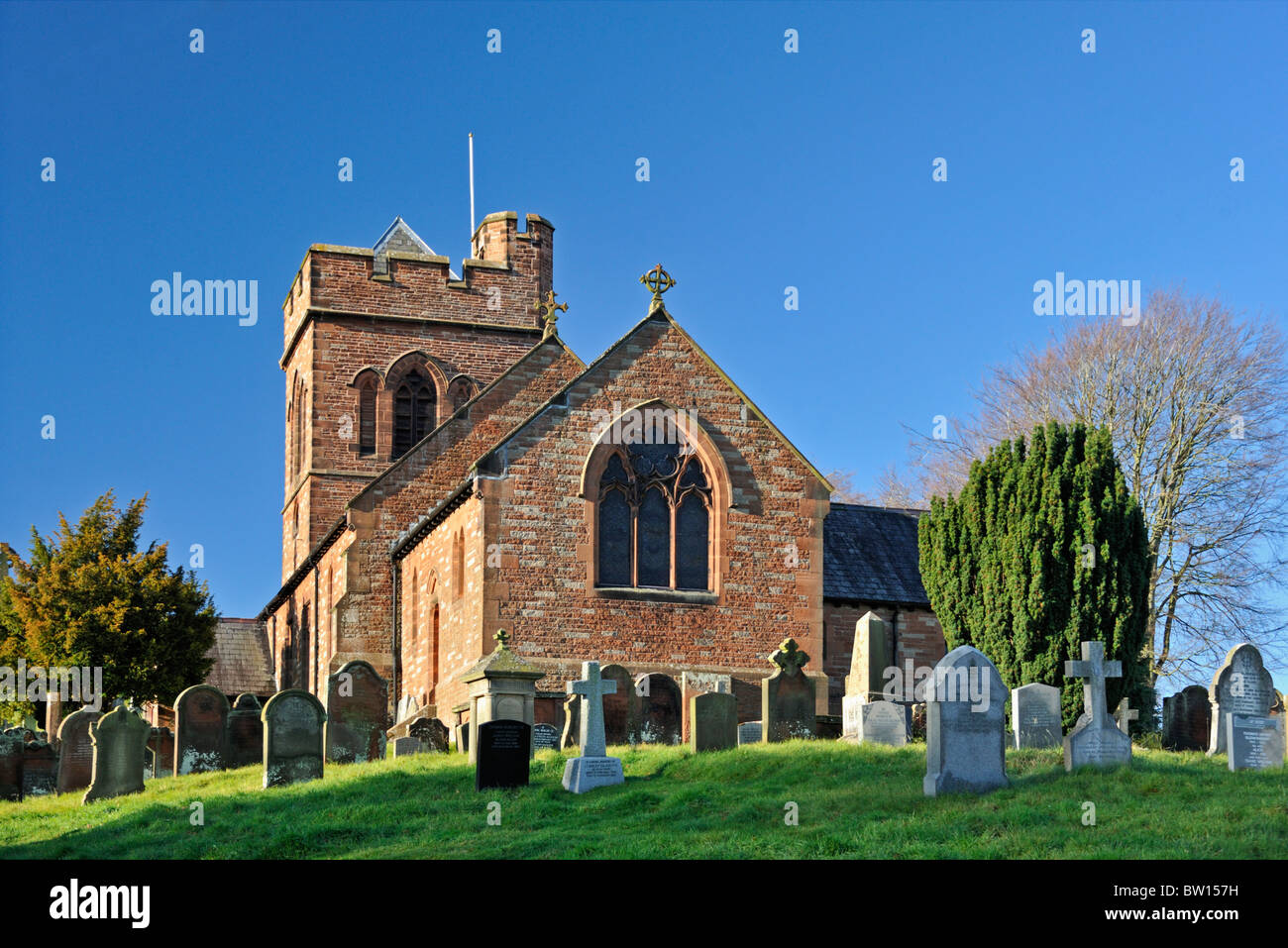 Church of Saint Nicholas. Lazonby, Cumbria, England, United Kingdom, Europe. - Stock Image