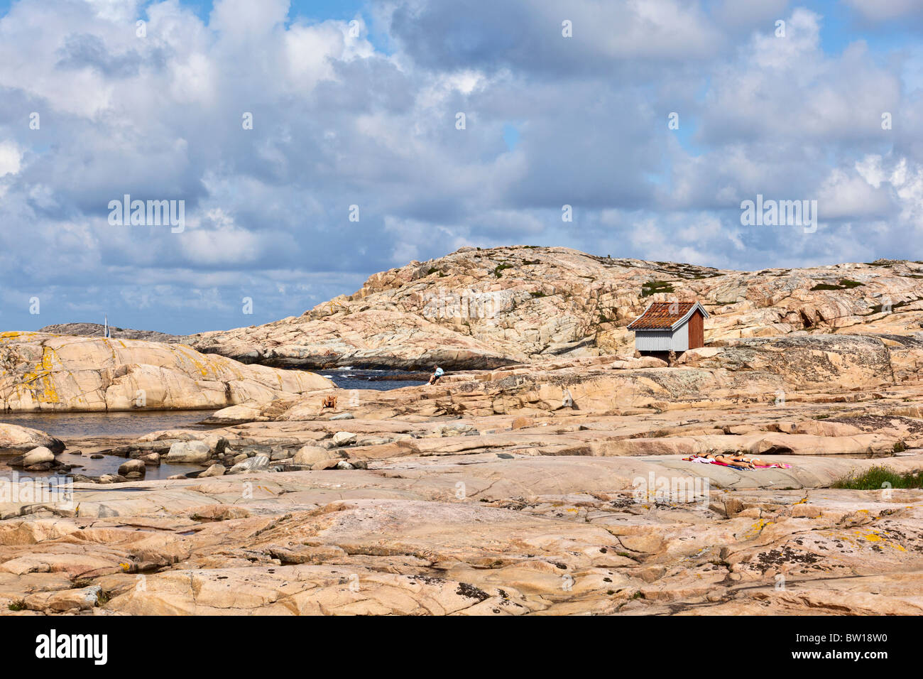 Rocky coast at sea archipelago - Stock Image