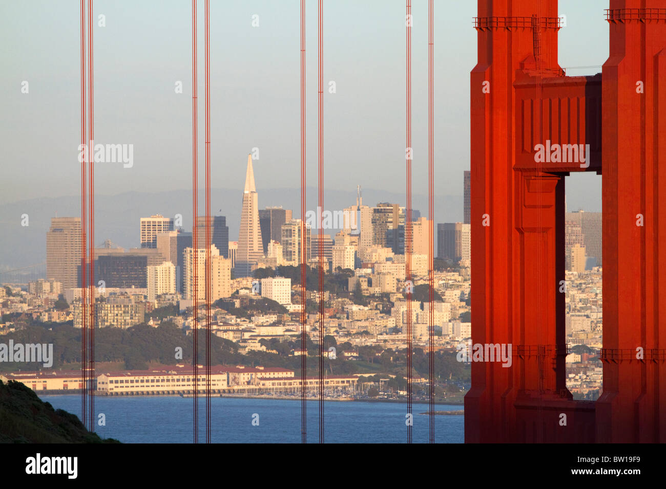 The Golden Gate Bridge and the city of San Francisco, California, USA. - Stock Image