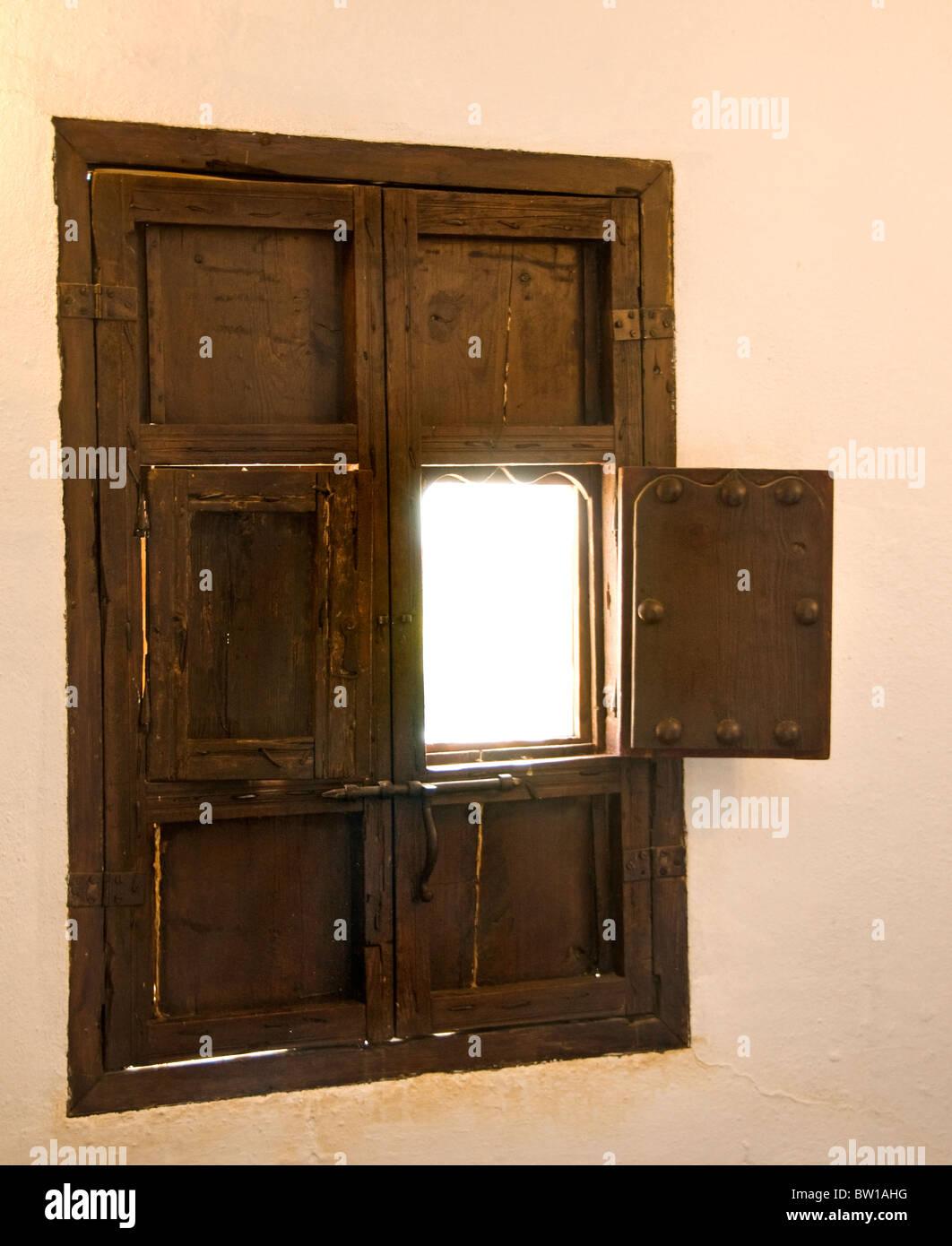 Spain Andalusia Spanish old  farm farmstead  window - Stock Image