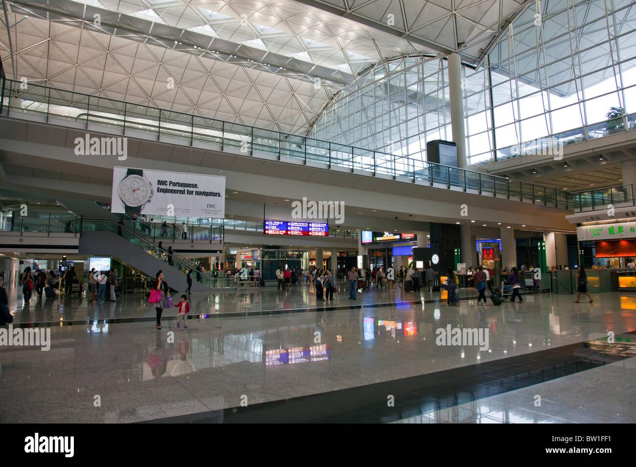 Hong Kong International Airport Chek Lap Kok Airport inside interior Stock Photo