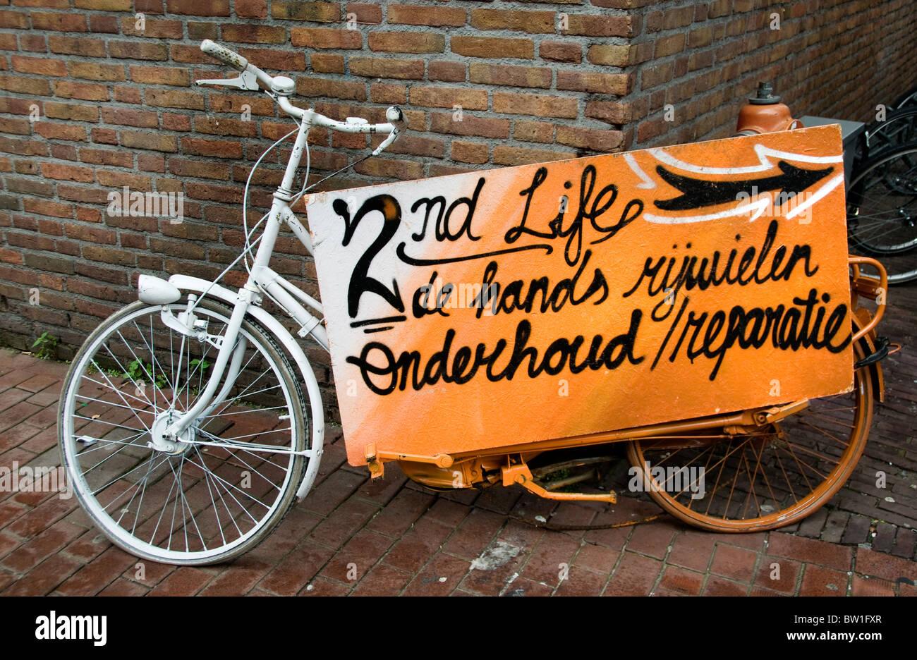Netherlands bicycle cycle  bike biking cycling cyclists - Stock Image