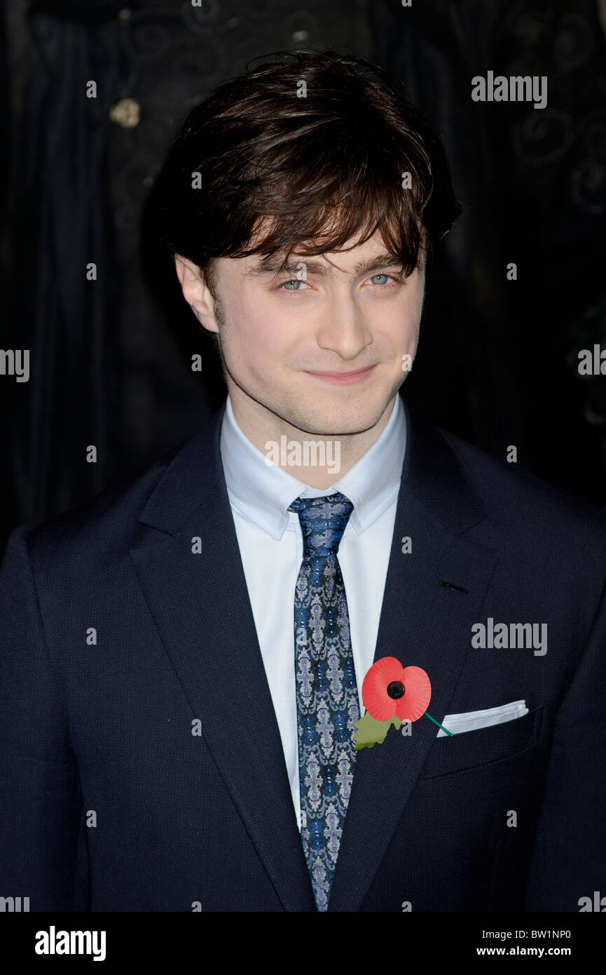 Daniel Radcliffe attends the World Premiere of Harry Potter and the Deathly Hallows Part 1, London, 11th November - Stock Image