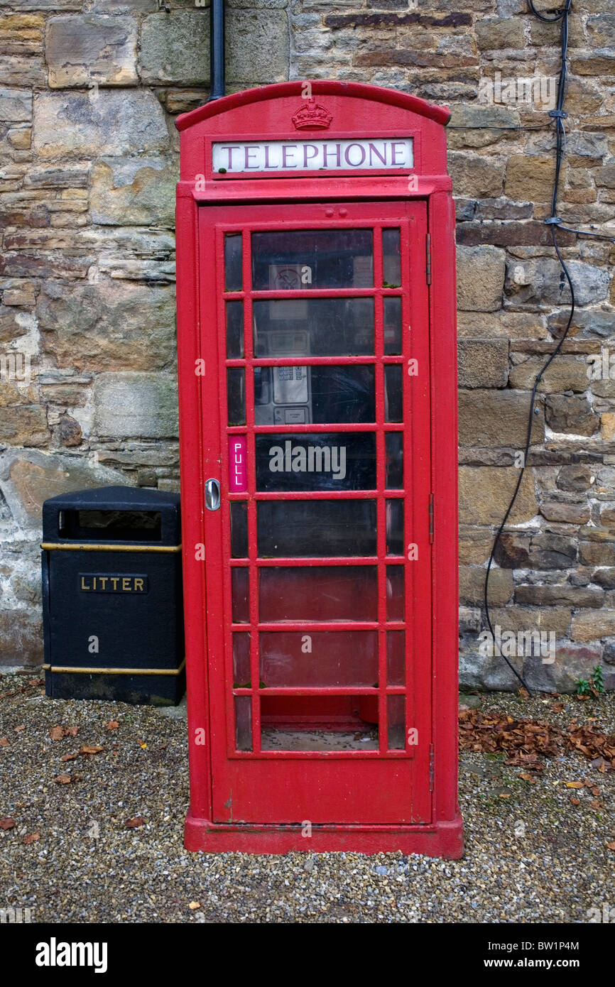 A British Red Telephone Box. Stock Photo