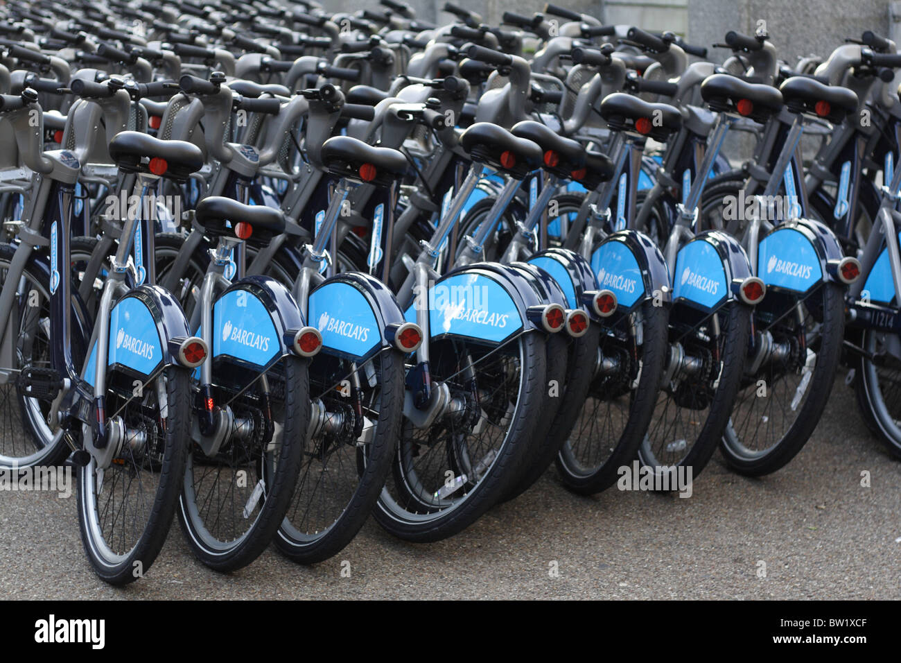 TFL london bike hire scheme - Stock Image