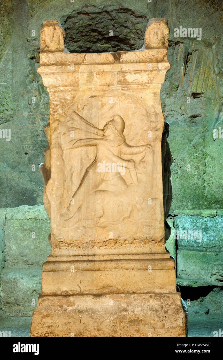 Altar of Mithras, The Mithraic area, Basilica San Clemente - Stock Image