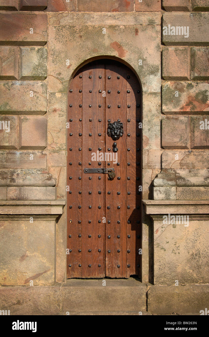 Doorway of the gatehouse at Lyme Park, Stockport, Cheshire. - Stock Image