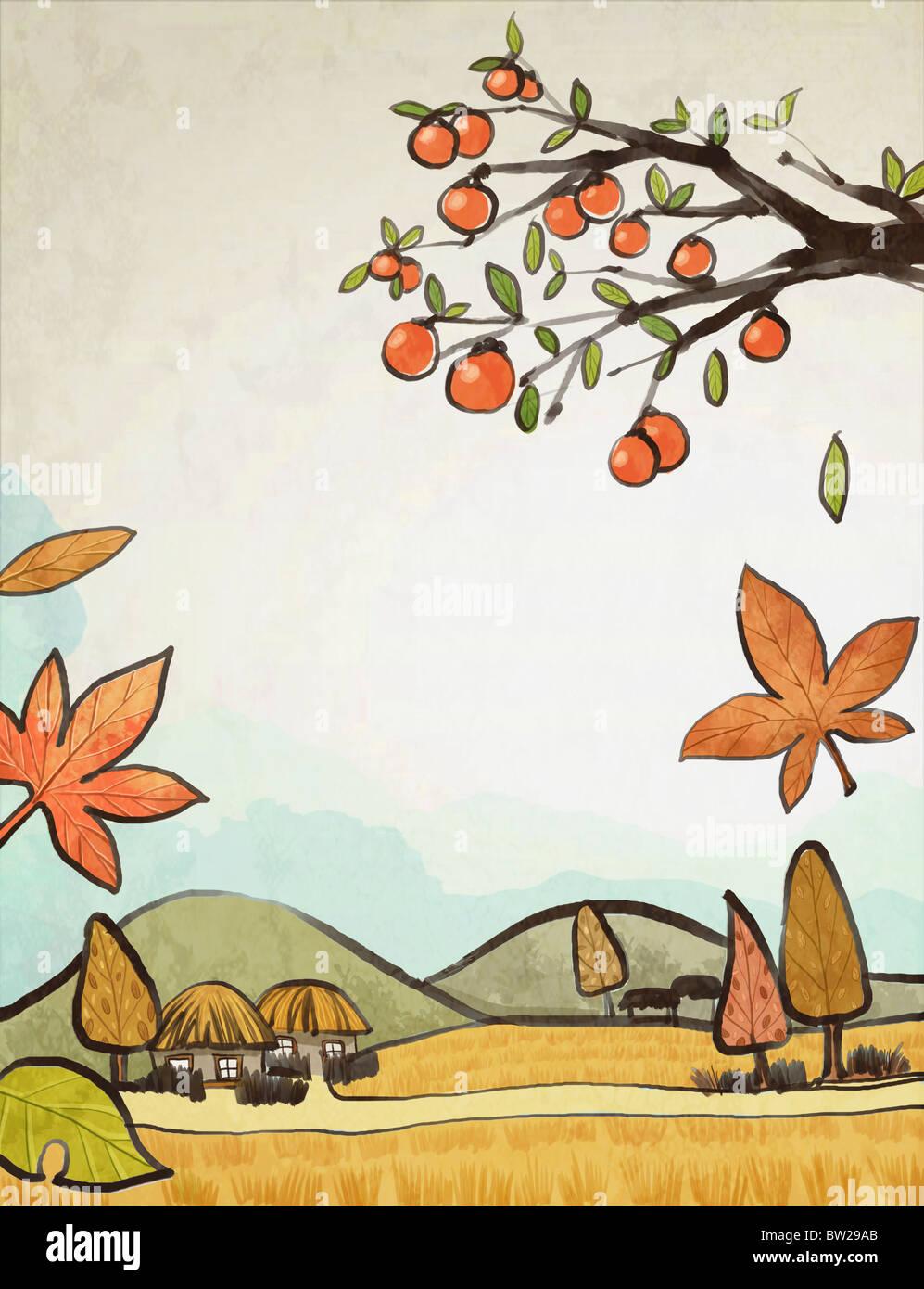 Korean Autumn air - Stock Image
