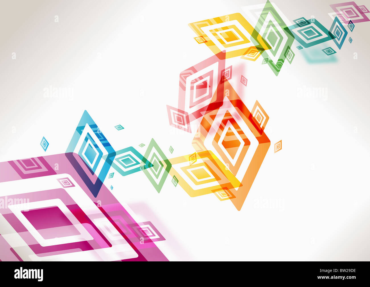 colorful rectangle pattern - Stock Image