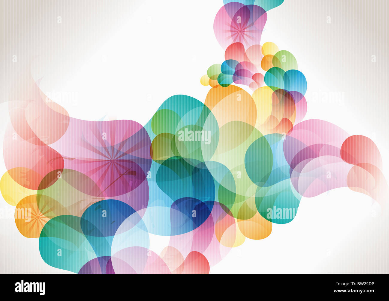 colorful circled pattern - Stock Image