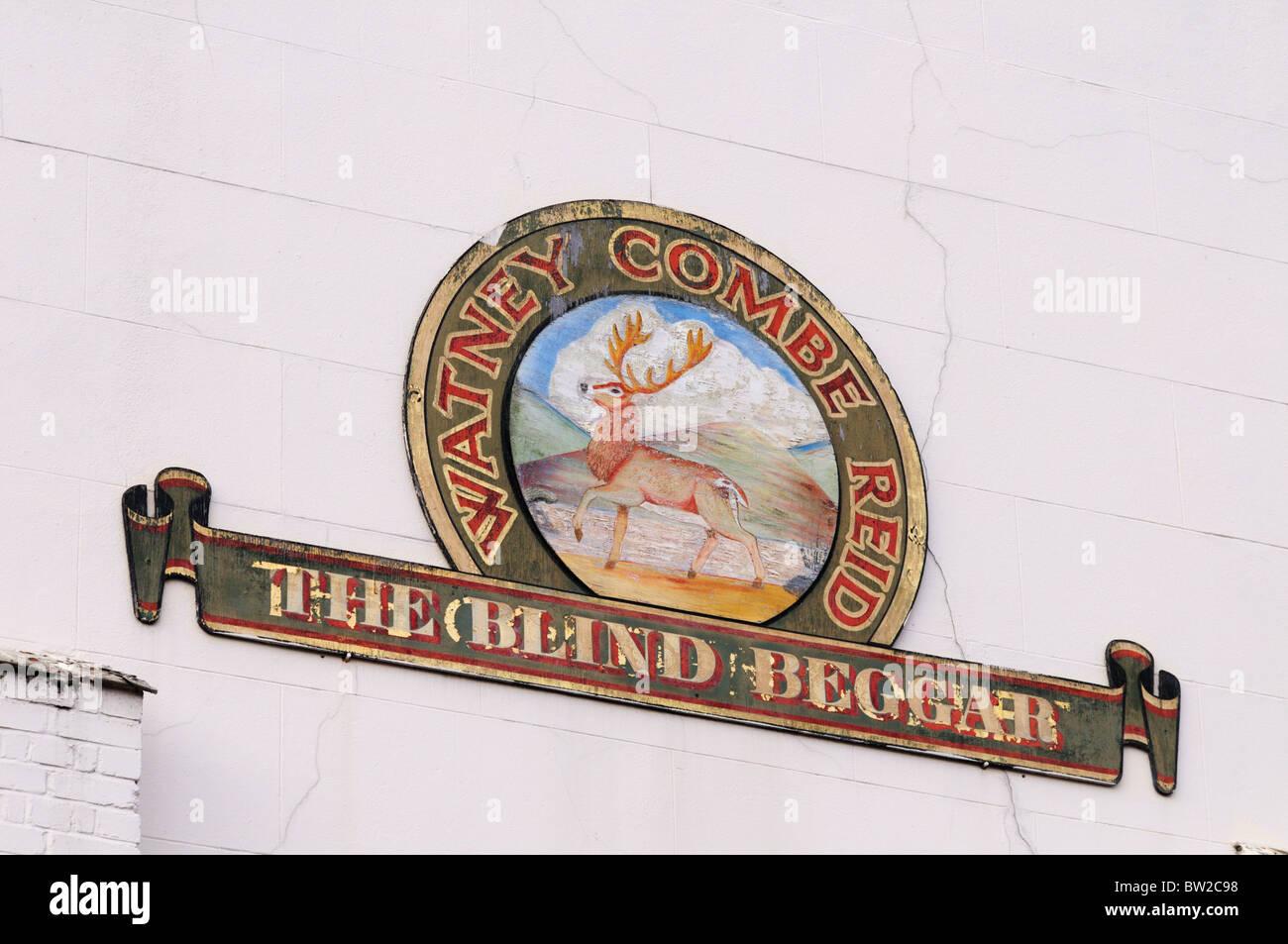 The Blind Beggar Pub, Whitechapel, Road, London, England, UK - Stock Image