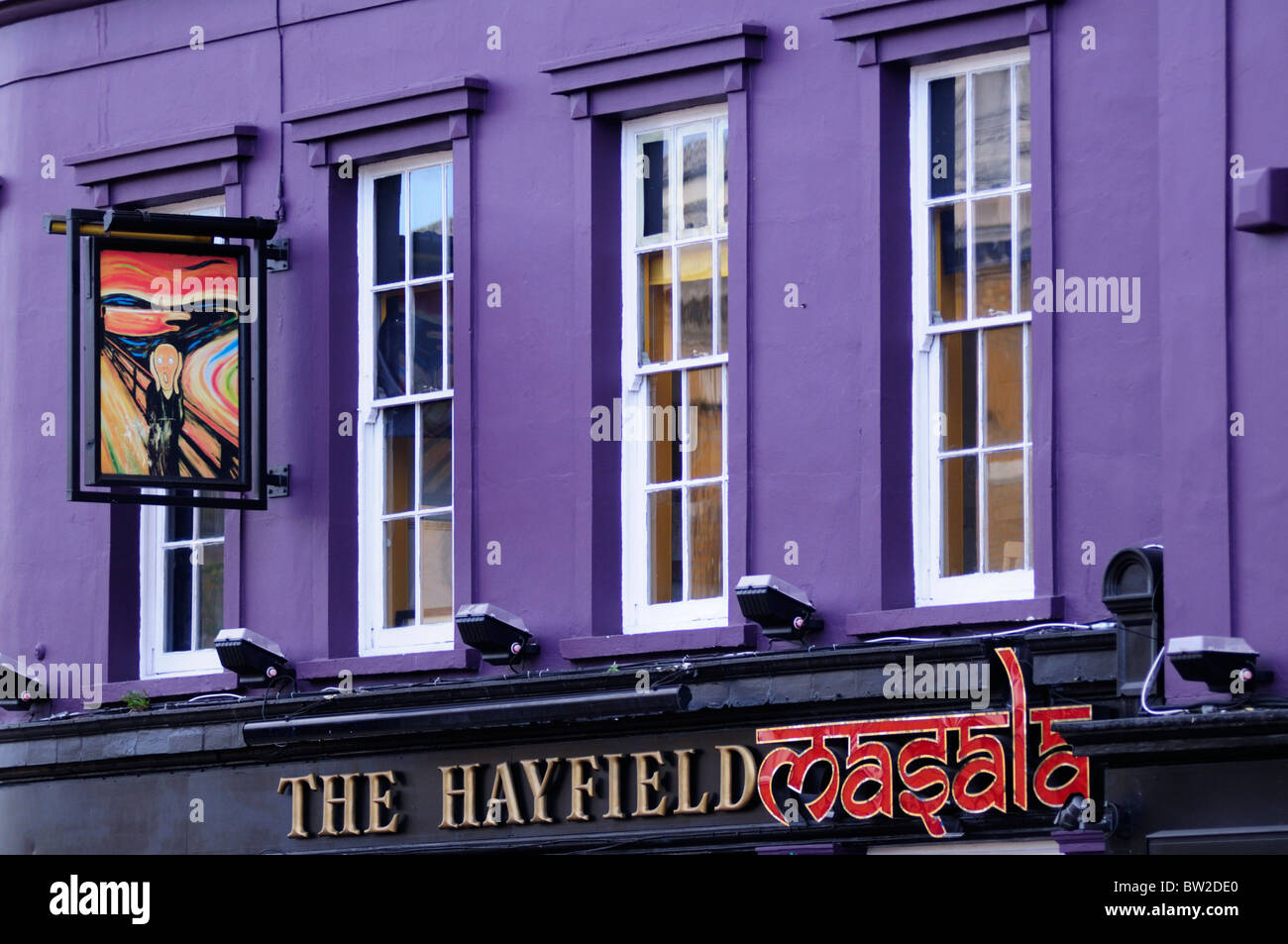 The Hayfield Masala restaurant, Mile End Road, London, England, UK - Stock Image