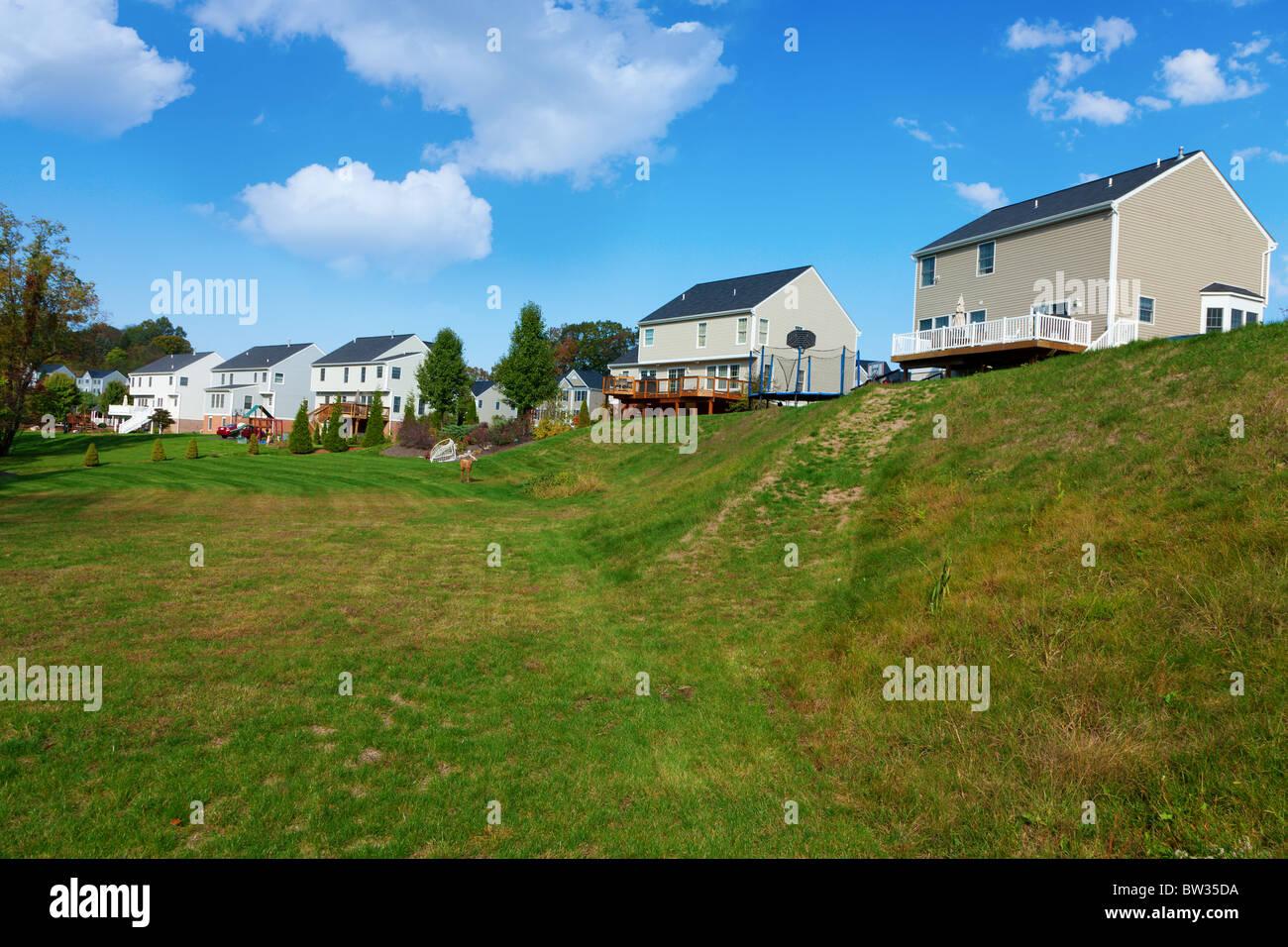 Residential neighborhood - Stock Image