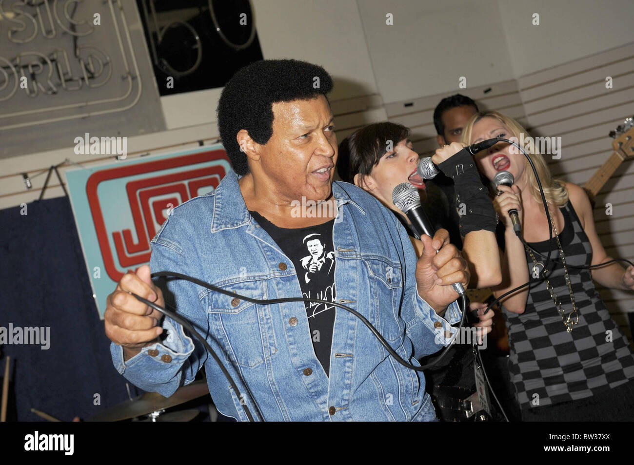 Chubby Checker ALL THE BEST Record Signing and Concert - Stock Image