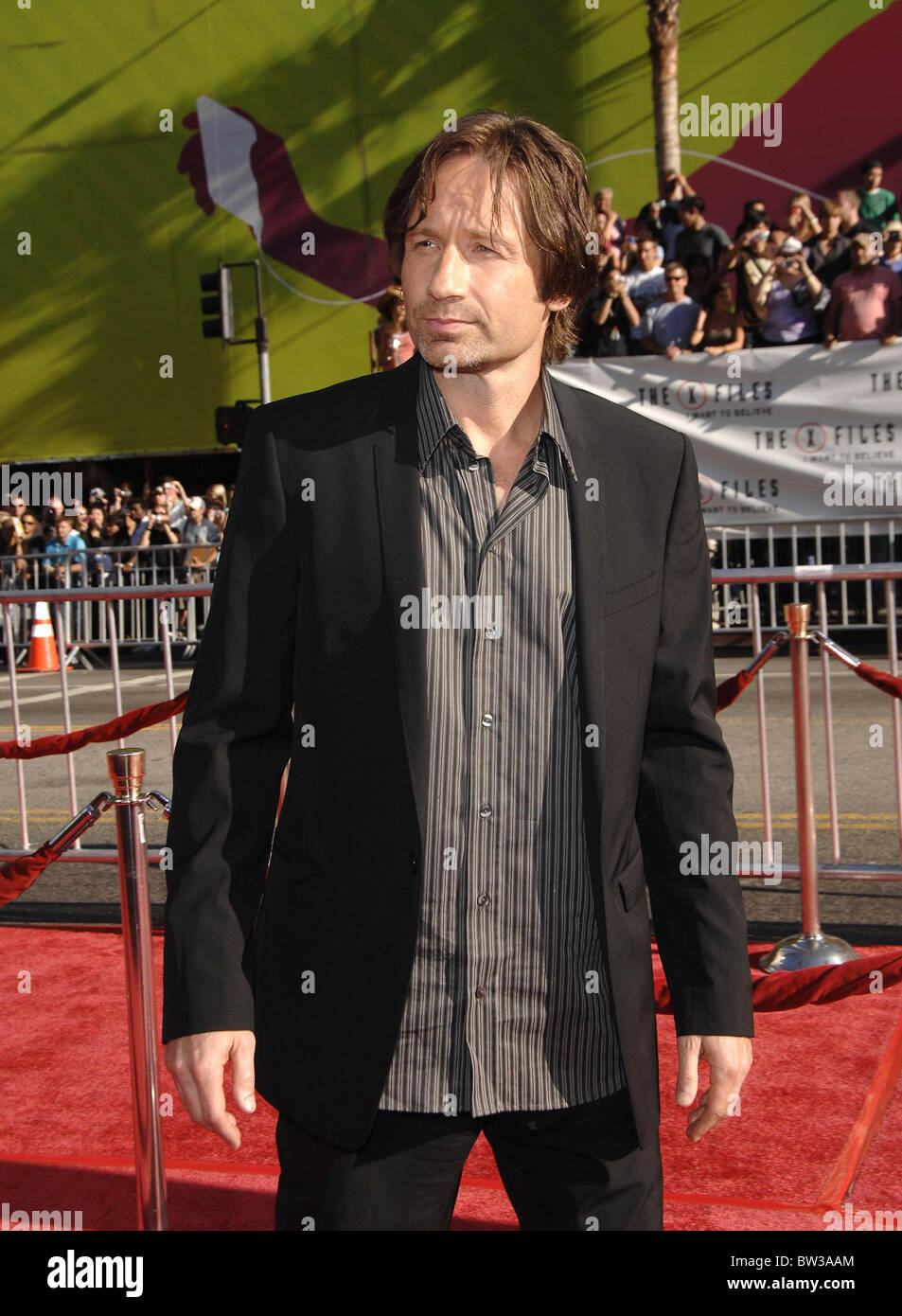 Premiere of THE X-FILES: I WANT TO BELIEVE - Stock Image