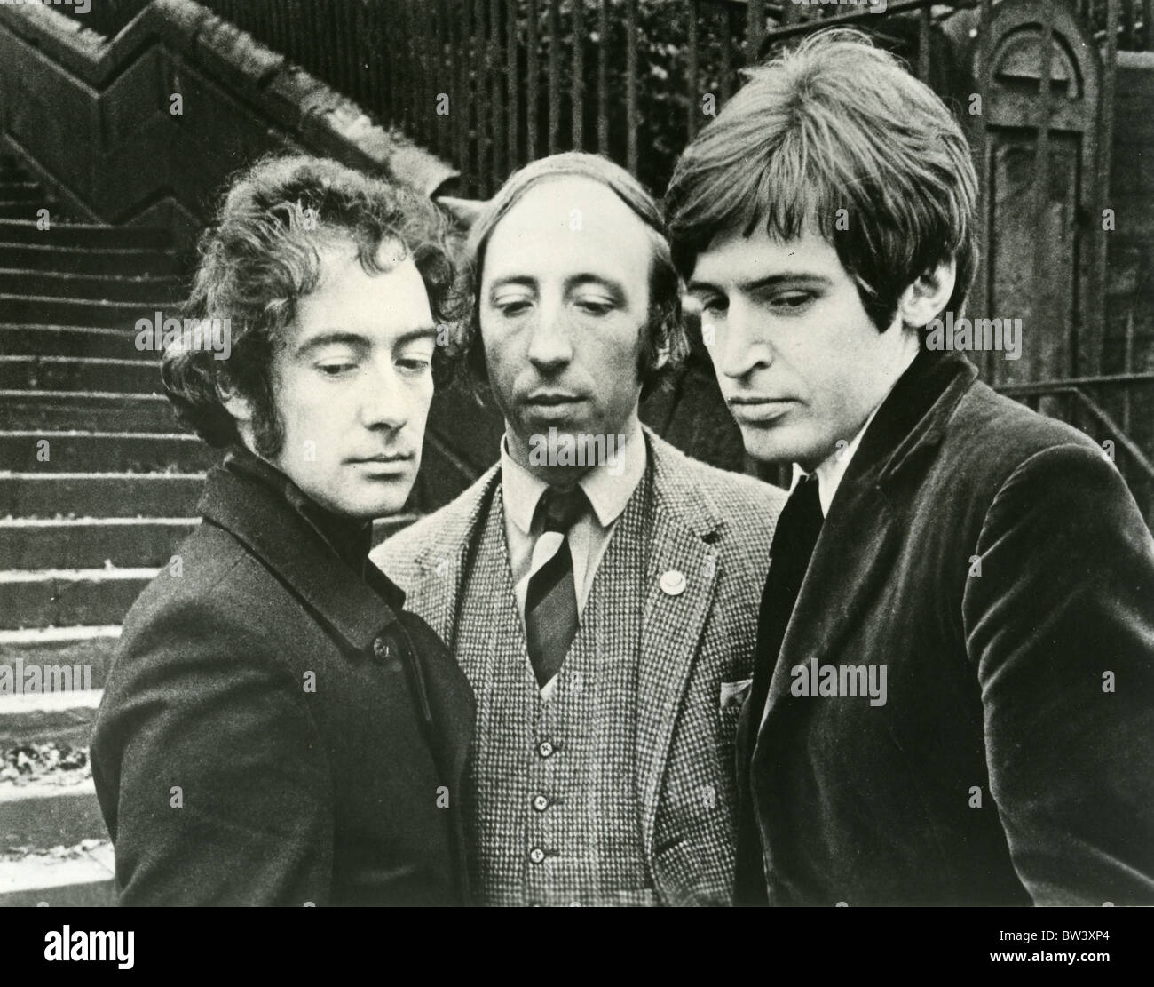 THE SCAFFOLD  Promotional photo of UK pop group in  1968 from l: Roger McGough, John Gorman and Mike McGear - Stock Image