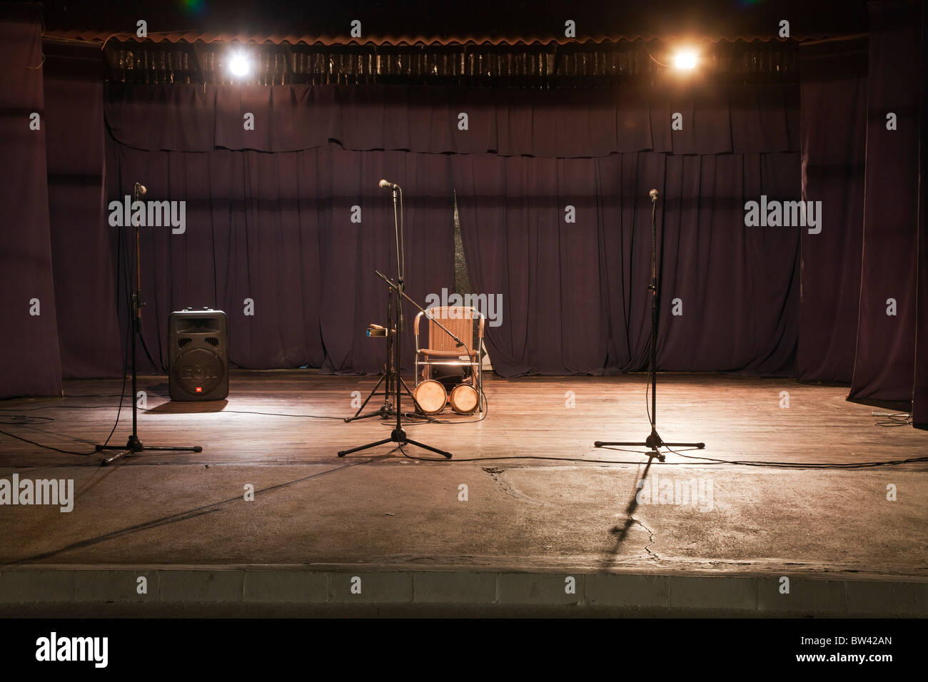 Empty stage - Stock Image