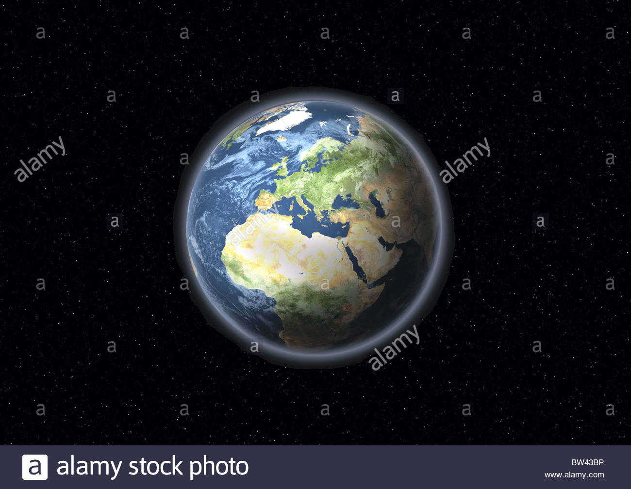 Globe with Africa and Europe - Stock Image