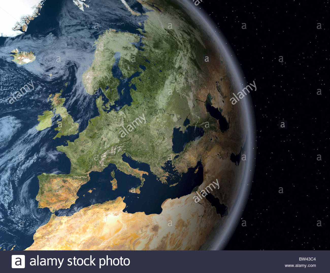 Globe with Europe - Stock Image