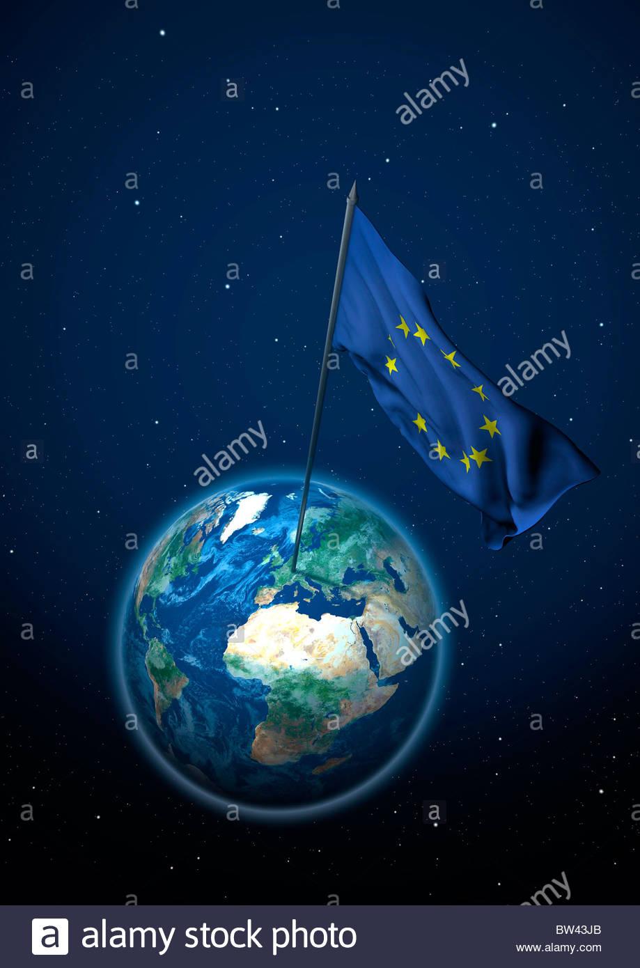 Flag of the European Union - Stock Image