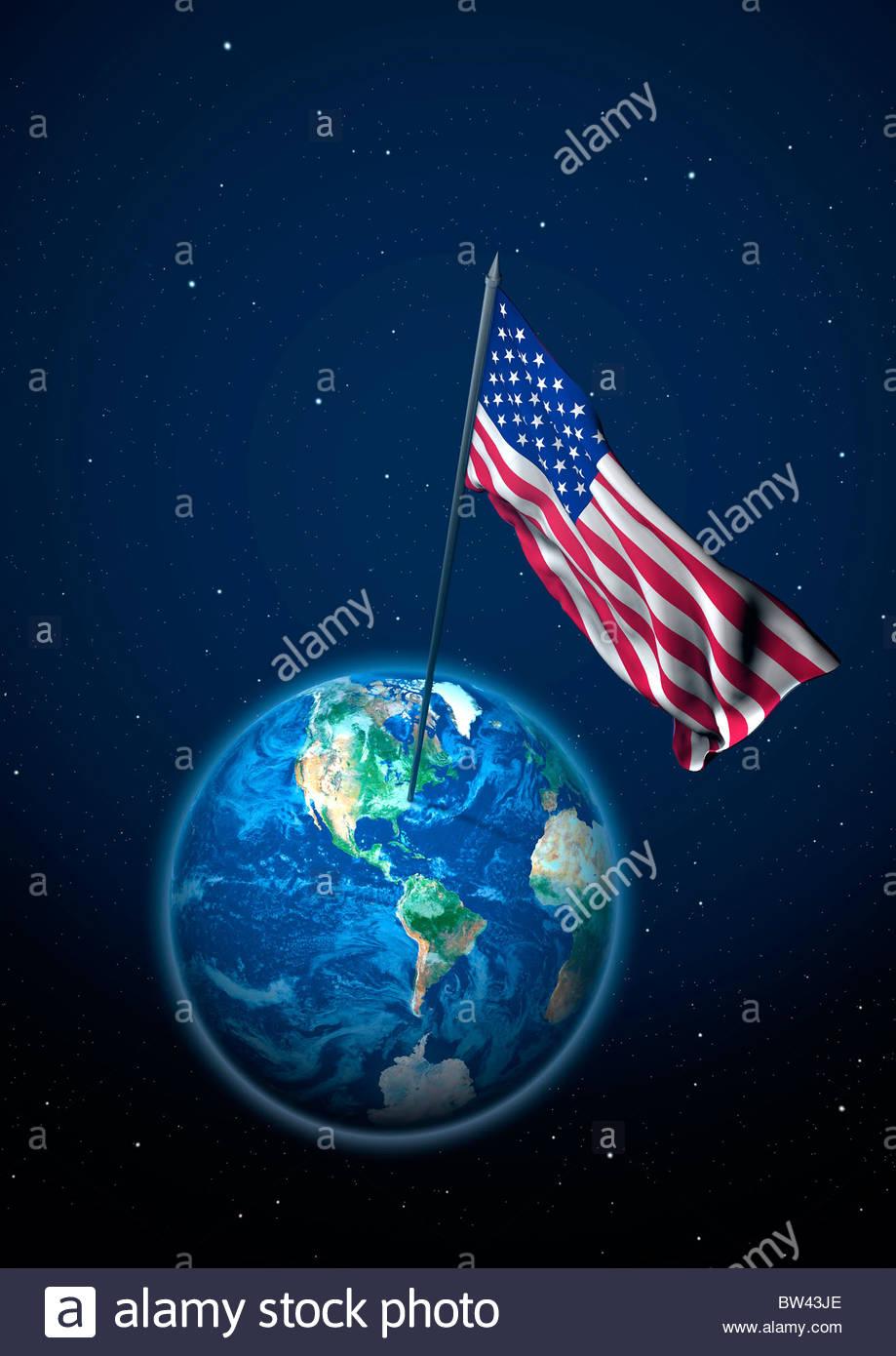 Flag of the USA - Stock Image