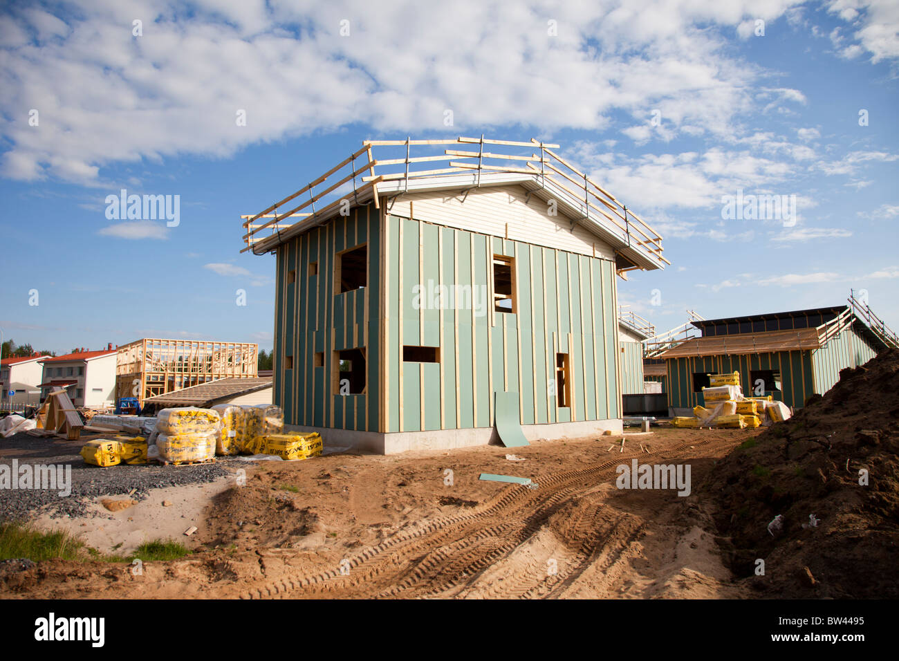 House building site in Finland Stock Photo