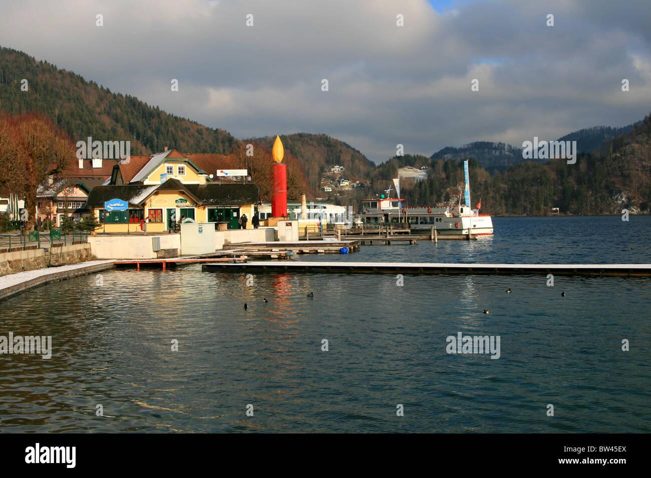 Sankt Gilgen at Christmas, Austria, Europe - Stock Image