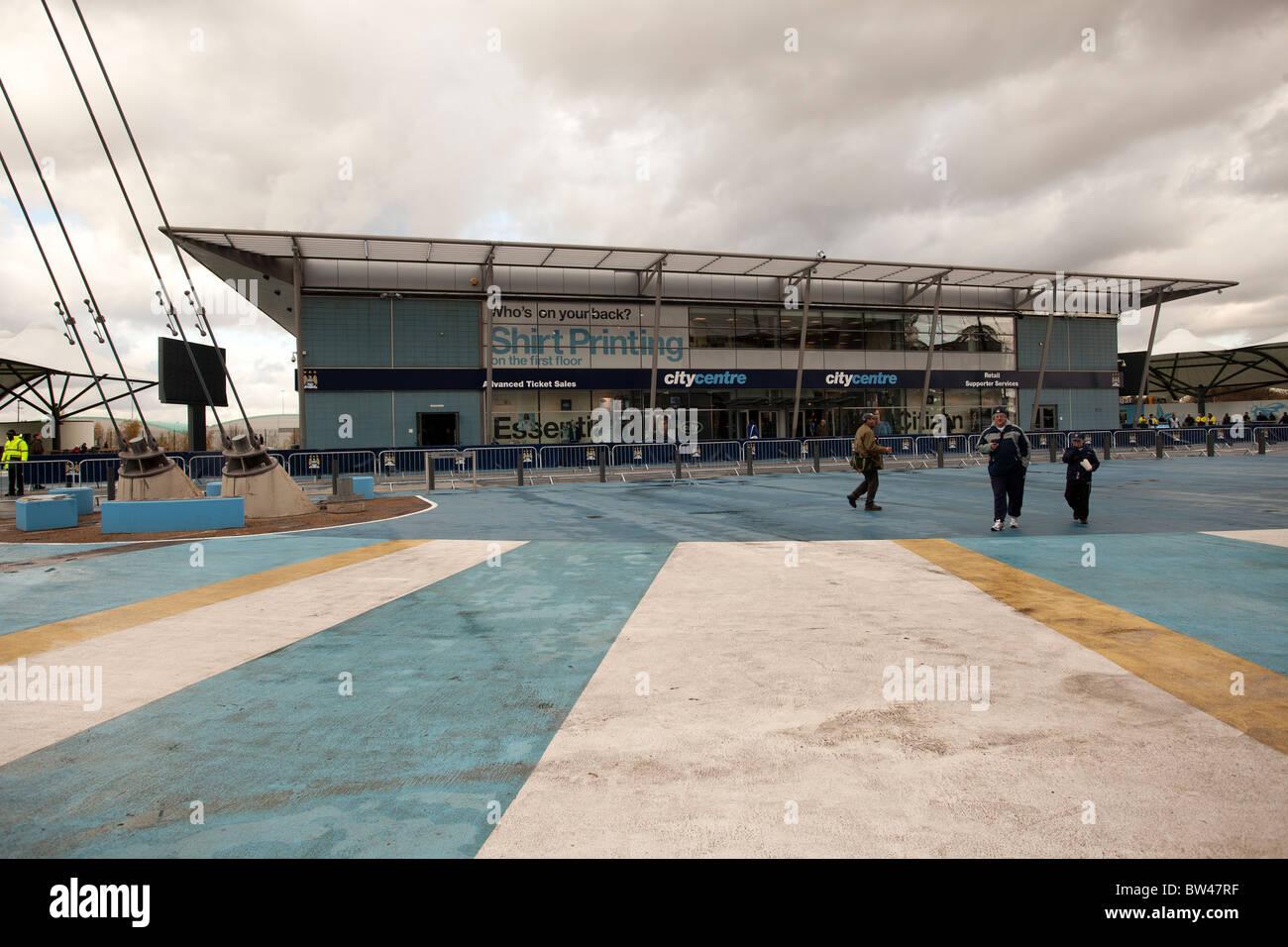 Manchester City football club shop Eastlands , Sportcity , Beswick - Stock Image