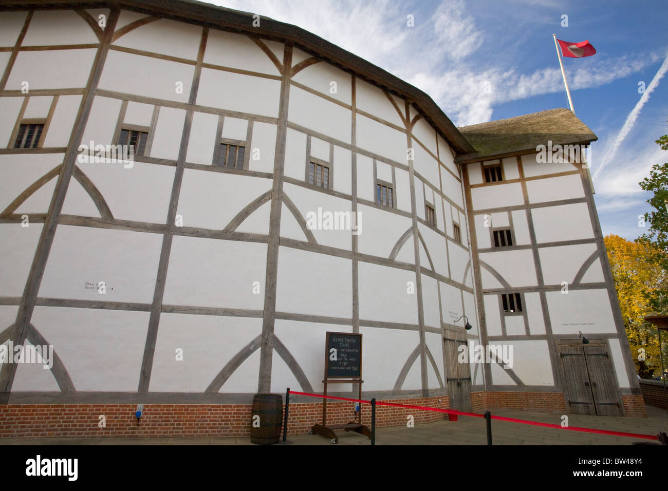 Shakespeare's Globe, a reconstruction of the Globe Theatre, London - Stock Image