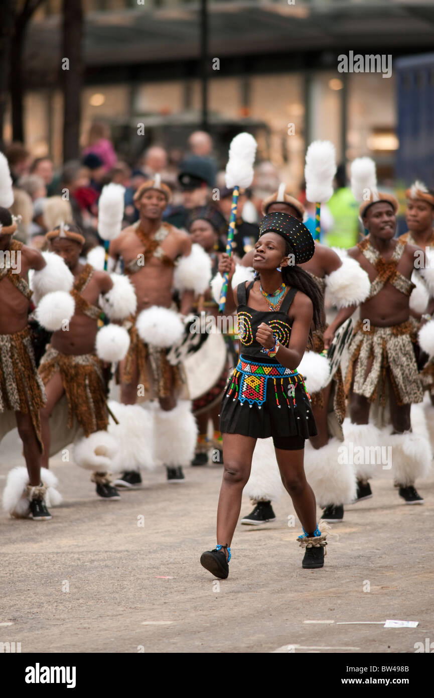 Mighty Zulu Nation Theatre Company, sponsored by Standard Bank Group - Stock Image