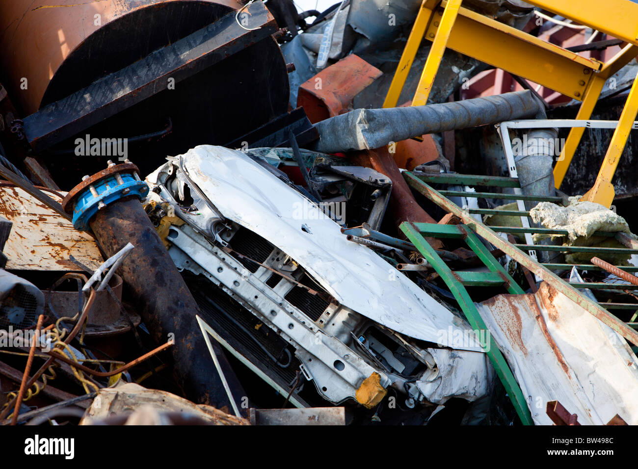 Pile of metal waiting for recycling Stock Photo